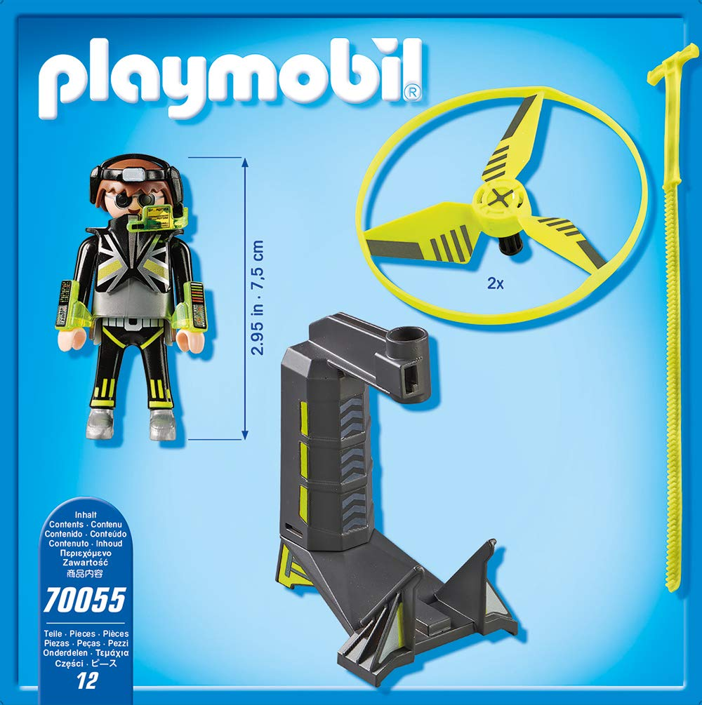 Playmobil 70055 - Top Agents Pull String Flyer - Précédent
