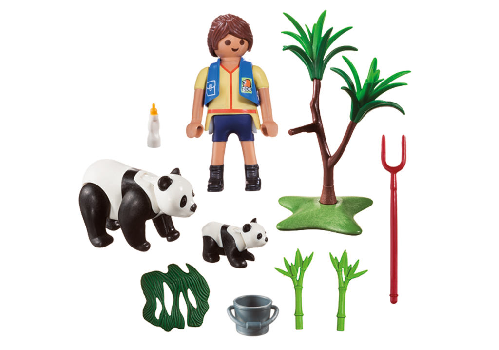 Playmobil 70105-usa - Panda Caretaker - Back
