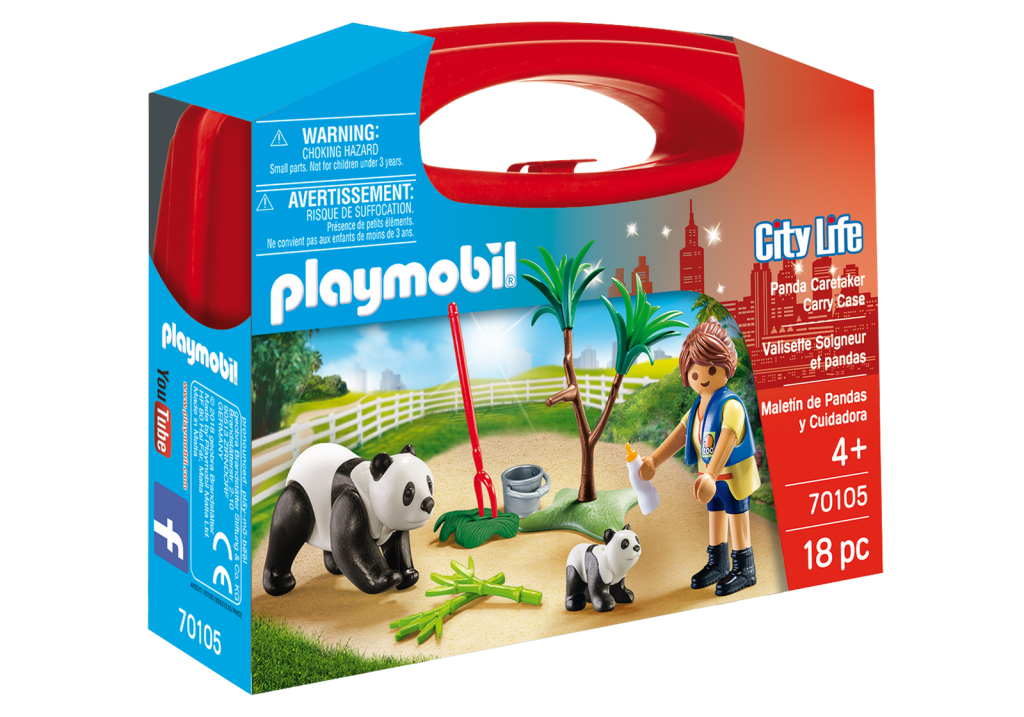 Playmobil 70105-usa - Panda Caretaker - Box