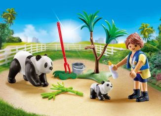 Playmobil - 70105-usa - Panda Caretaker