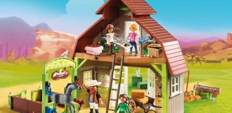 Playmobil - 70118 - Barn with Lucky, Pru and Abigail