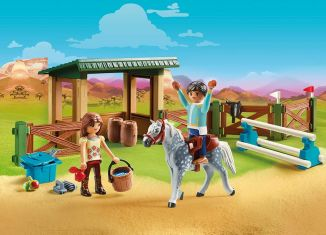 Playmobil - 70119 - Horse Riding with Lucky and Javier