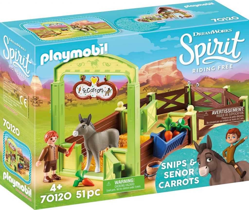 Playmobil 70120 - Horse Box Snips and Mr Carrot - Box