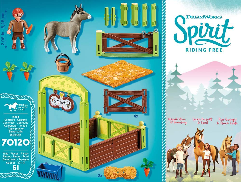 Playmobil 70120 - Horse Box Snips and Mr Carrot - Back