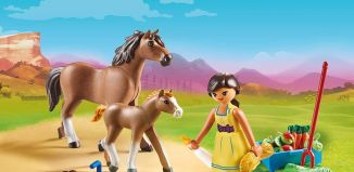 Playmobil - 70122 - Pru with horse and foal