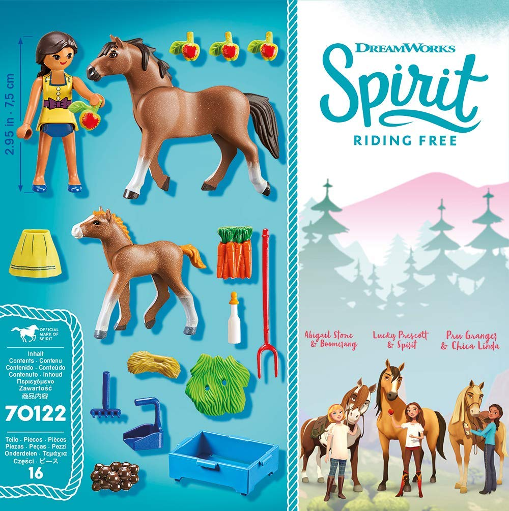 Playmobil 70122 - Pru with horse and foal - Back
