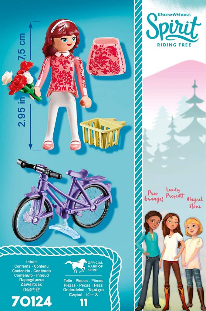 Playmobil 70124 - Maricela with Bicycle - Back