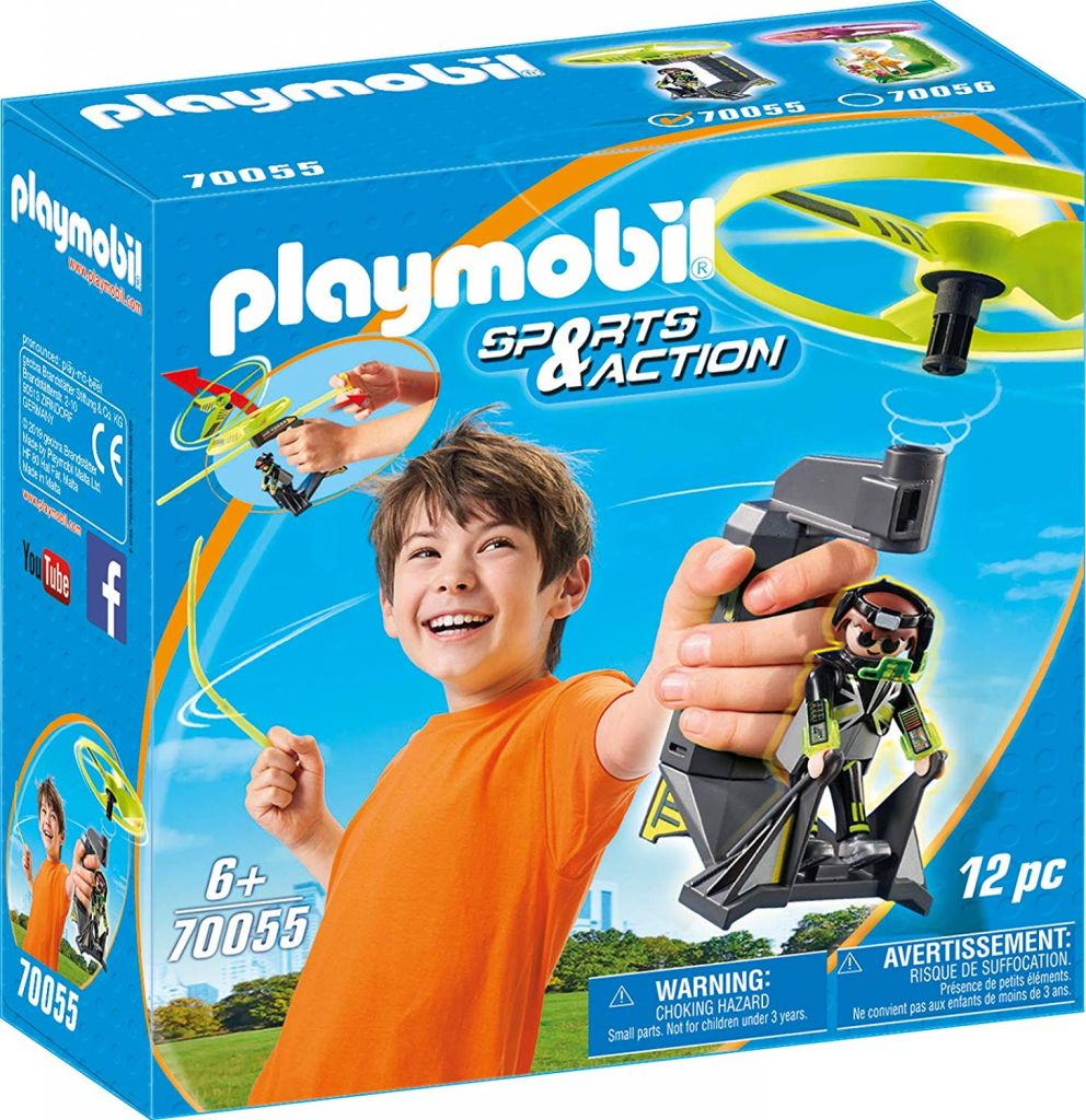 Playmobil 70055 - Top Agents Pull String Flyer - Caja