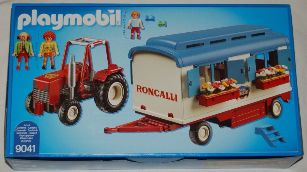 Playmobil 9041 - Roncalli Tractor and Trailer - Box
