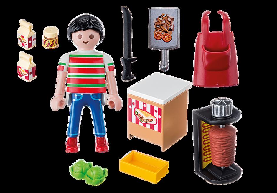 Playmobil 9088 - Kebab Vendor - Back