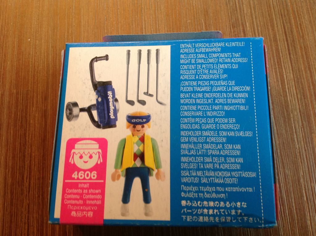 Playmobil 4606 - Golfer - Back