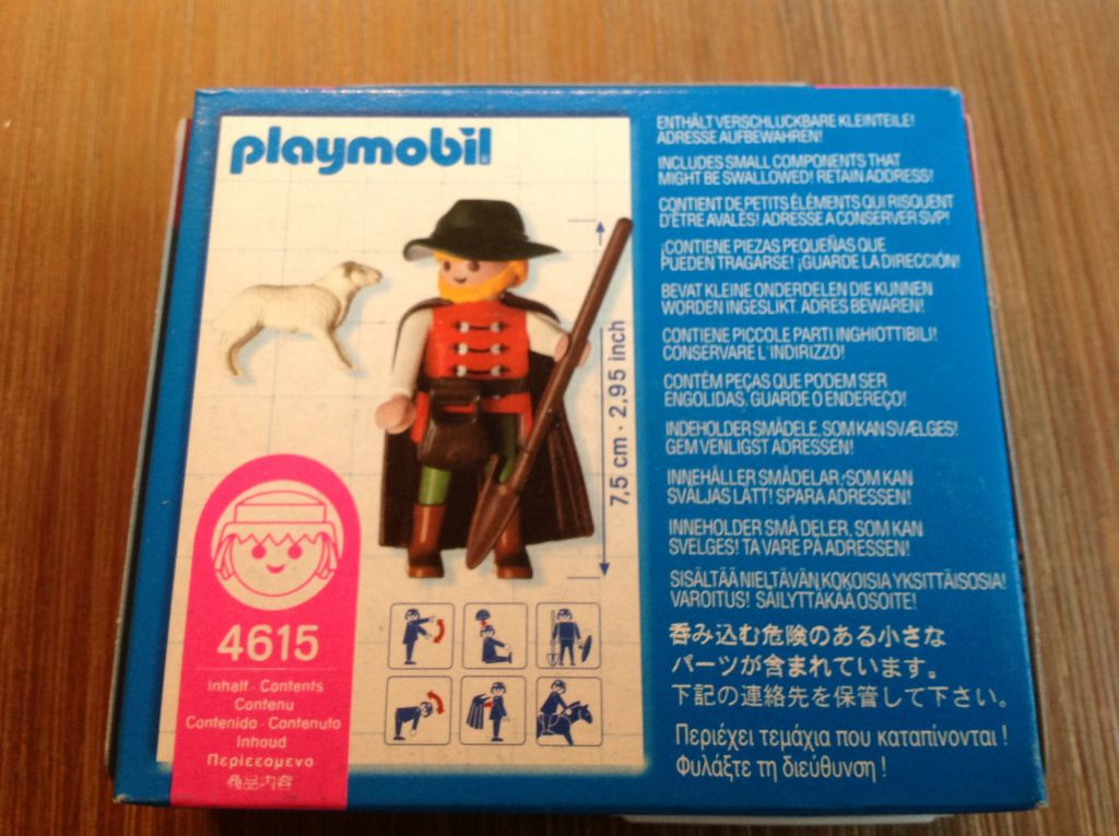 Playmobil 4615 - Shepherd - Back