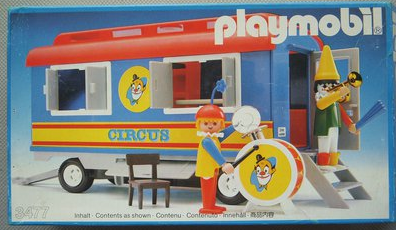 Playmobil 3477v2 - Circus Clown Trailer - Box