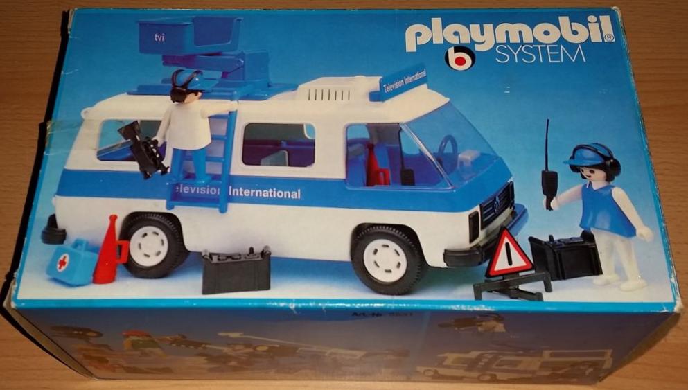 Playmobil 3530v1 - Television International van - Box