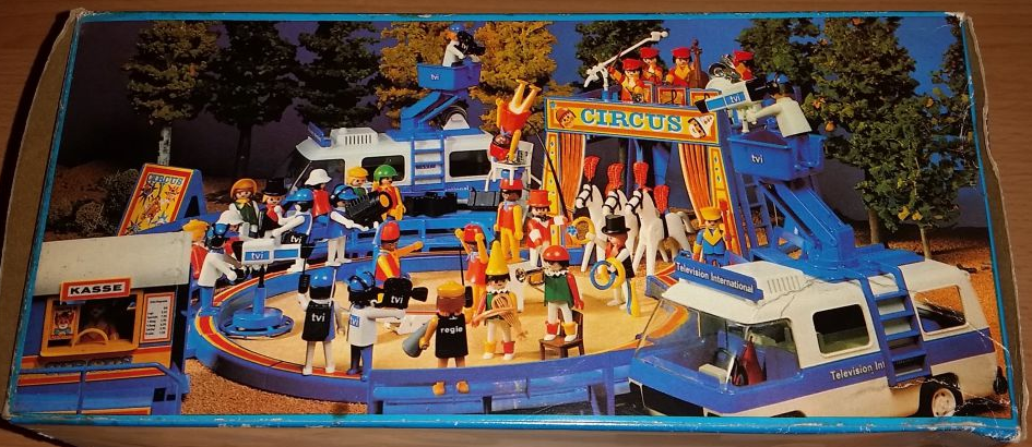 Playmobil 3530v1 - Television International van - Back