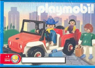 Playmobil - 3940v2-ant - Red jeep with family