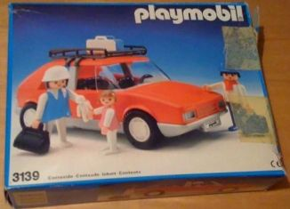 Playmobil - 3139v2-esp - Voiture de tourisme rouge
