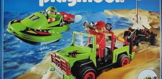 Playmobil - 3041-usa -  Jeep with Speedboat