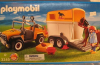 Playmobil - 3249-usa - Jeep with trailer & horse