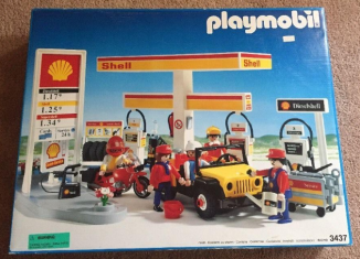 Playmobil - 3437-usa - Shell Gas Station