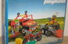 Playmobil - 3754v1-usa - Red jeep with trailer & dirt bikes
