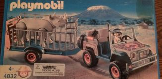 Playmobil - 4832-usa - Ranger's Vehicle with Rhino