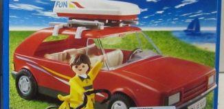 Playmobil - 3237-usa - Red Family Car