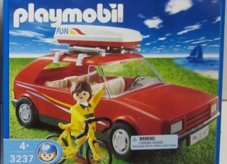 Playmobil - 3237-usa - Red Family Car