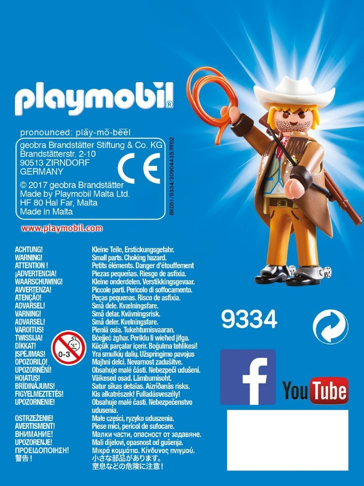 Playmobil 9334 - Sheriff - Back