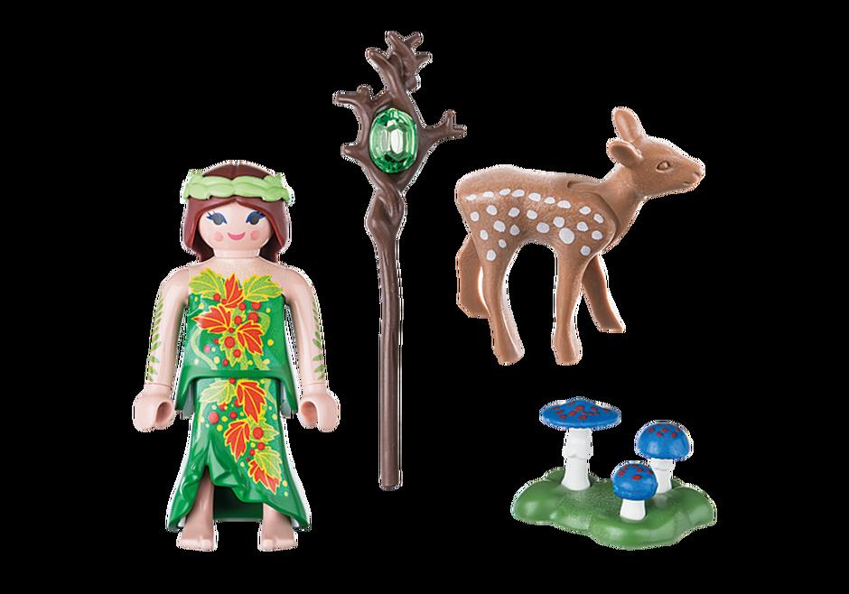 Playmobil 70059 - Elf With Deer - Back
