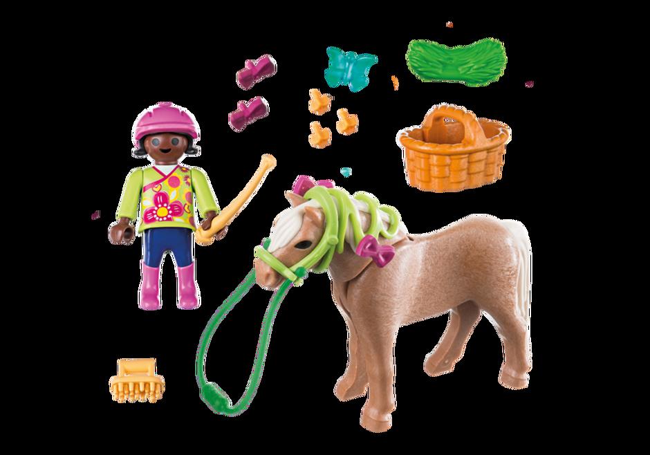 Playmobil 70060 - Girl With Pony - Back