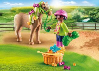Playmobil - 70060 - Girl With Pony