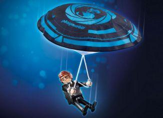 Playmobil - 70070 - PLAYMOBIL:THE MOVIE Rex Dasher with Parachute