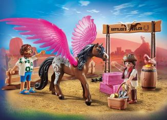 Playmobil - 70074 - PLAYMOBIL:THE MOVIE Marla and Del with Flying Horse
