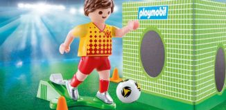 Playmobil - 70157 - Footballer with goal wall