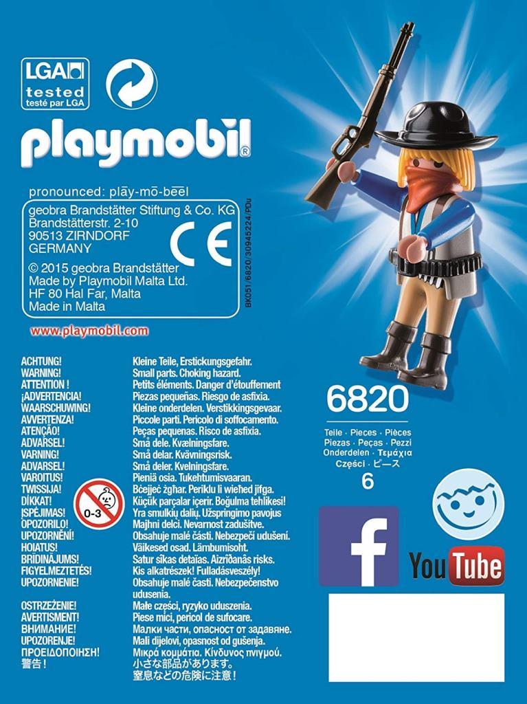 Playmobil 6820 - Masked Bandit - Back