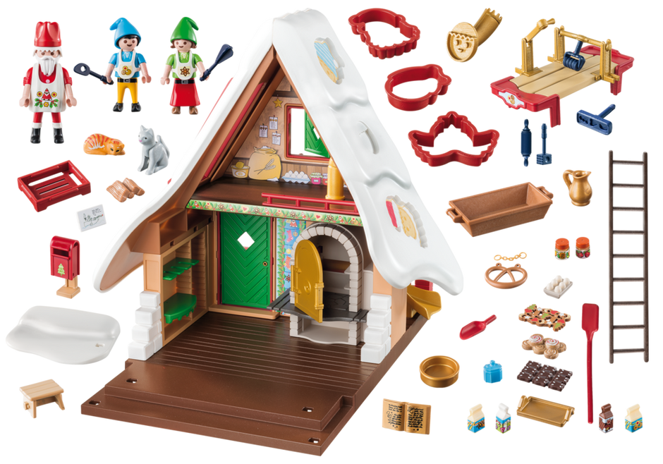 Playmobil 9493 - Christmas Bakery With Cookie Cutters - Back