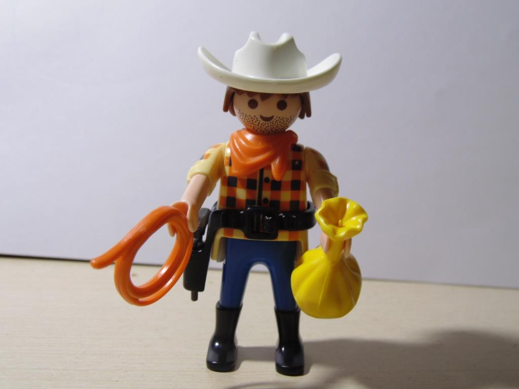 Playmobil 0000 (30 00 0623) - Cowboy with bag of gold - Back