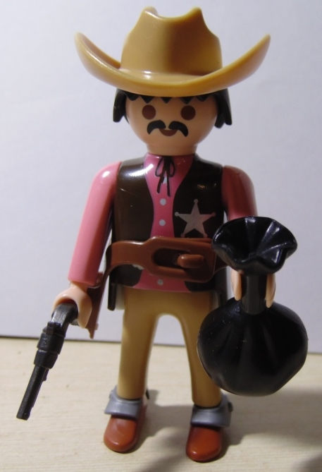 Playmobil 0000 (30 00 5480) - Sheriff with bag of gold - Back