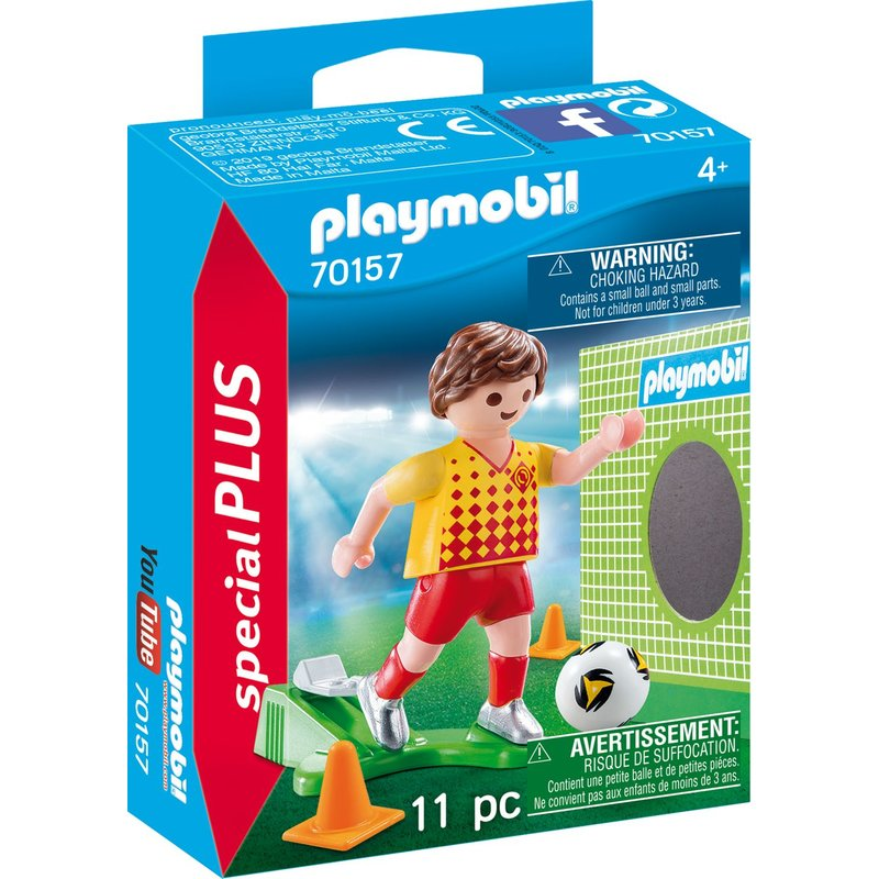 Playmobil 70157 - Footballer with goal wall - Box