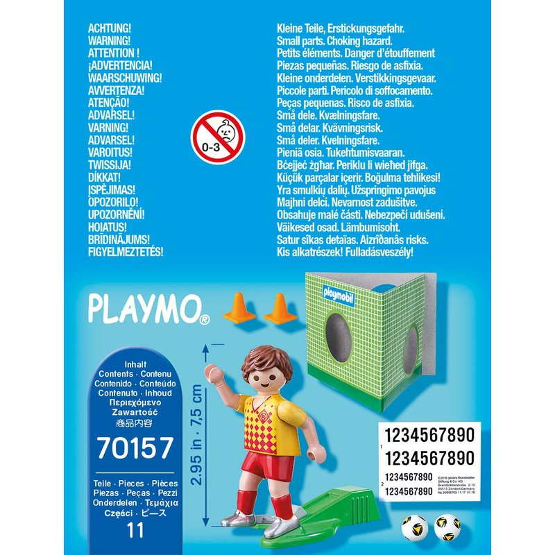Playmobil 70157 - Footballer with goal wall - Back