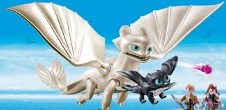Playmobil - 70038 - Light Fury and Baby Dragon With Kids