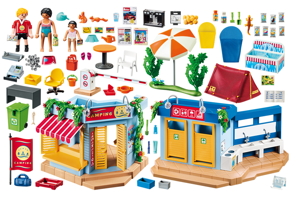 Playmobil 70087 - Großer Campingplatz - Back