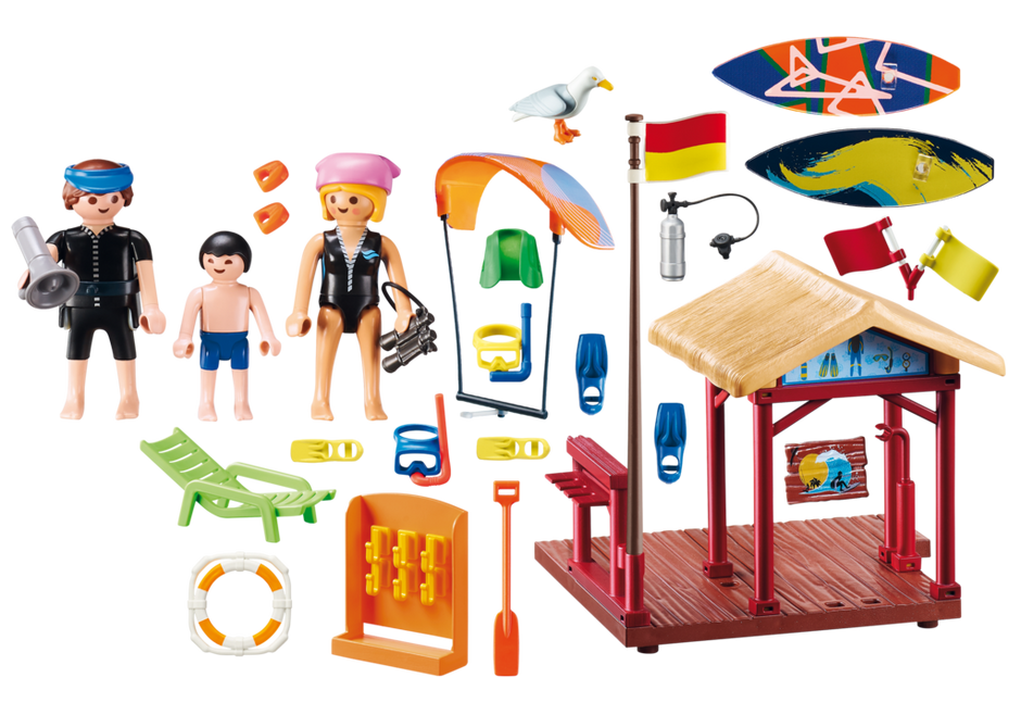 Playmobil 70090 - Wassersport-Schule - Back