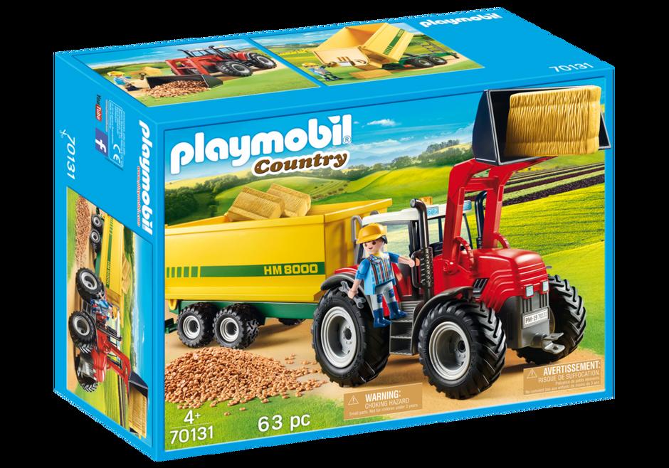Playmobil 70131 - Riesentraktor mit Anhänger - Box