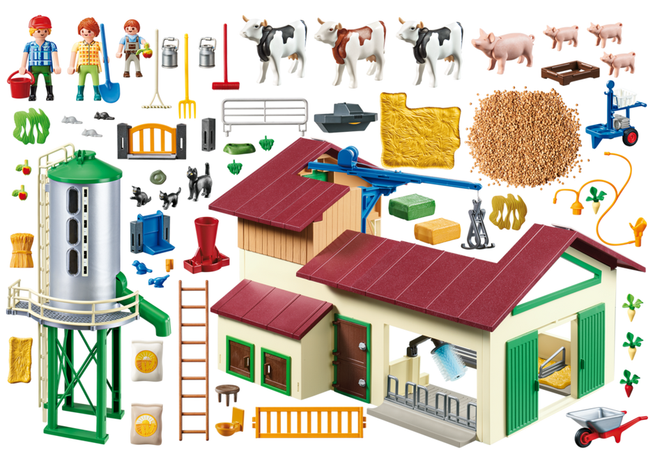Playmobil 70132 - Großer Bauernhof mit Silo - Back