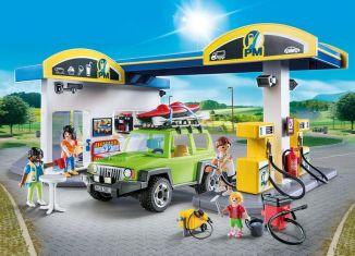 Playmobil - 70201 - Große Tankstelle