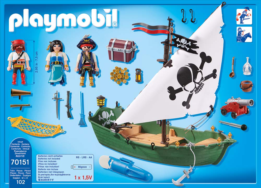 Playmobil 70151 - Piratenschiff - Back