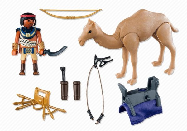 Playmobil 5389 - Egyptian warrior with camel - Back