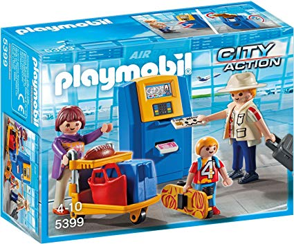 Playmobil 5399 - Family at the check-in machine - Box